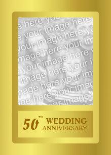 Golden Border 50th Wedding Anniversary Plaque