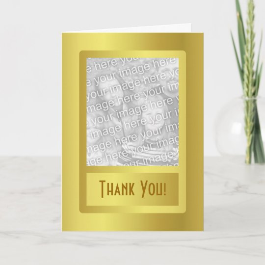 Golden Border 50th Wedding Anniversary Thank You Card