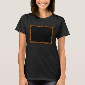 Golden Border on Elegant Black Base T-Shirt