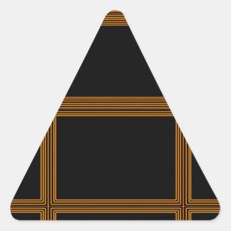 Golden Border on Elegant Black Base Triangle Sticker