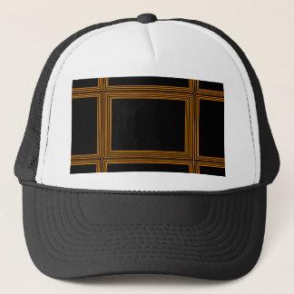 Golden Border on Elegant Black Base Trucker Hat