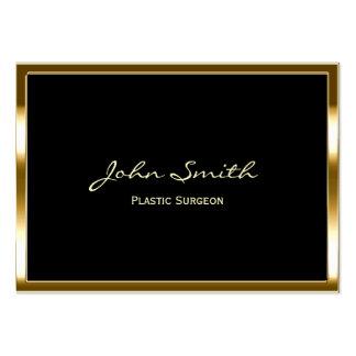 Golden Border Plastic Surgeon Business Card