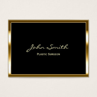 Golden Border Plastic Surgeon Business Card
