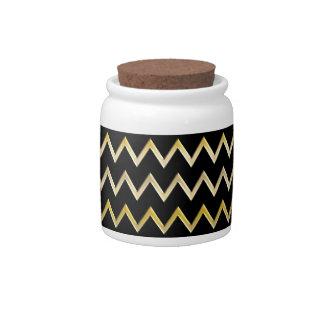 Golden Border - zigzag + your back & ideas Candy Jar