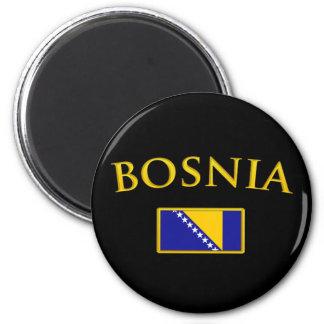 Golden Bosnia 2 Inch Round Magnet