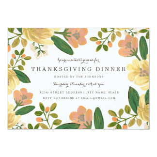 Golden Bouquet Thanksgiving Dinner Invite