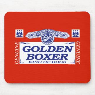 Golden Boxer Mouse Pad