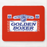 Golden Boxer Mouse Pads
