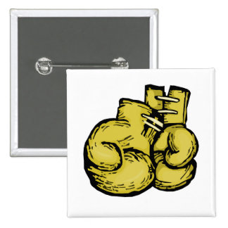 golden boxing gloves graphic pins