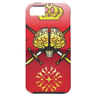 Golden brain. Shield with swords. Royal mind. iPhone SE/5/5s Case