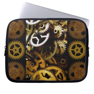 Golden Brass Clockwork Gears Laptop cover Computer Sleeve