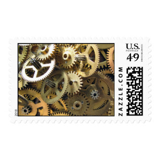 Golden Brass Gears - Steampunk Delivery! Postage