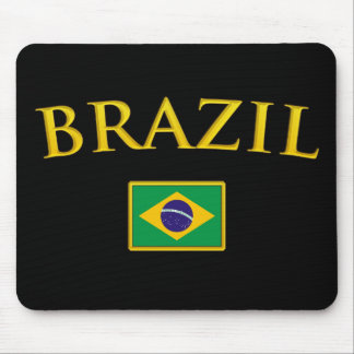 Golden Brazil Mouse Pads