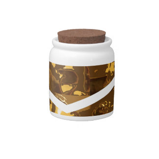 GOLDEN Brick Blocks Candy Jars