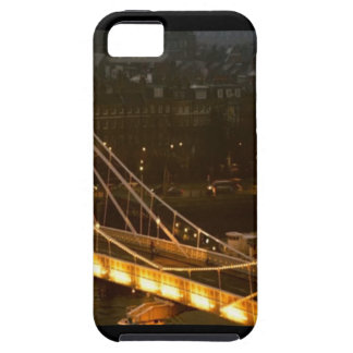 Golden Bridge London Night Light Reflections gifts iPhone 5 Cover