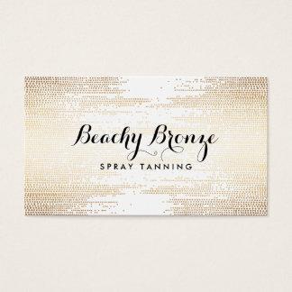 Golden Bronze Confetti Dots Business Card