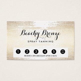 Golden Bronze Confetti Dots Salon Punch Card