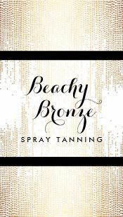 Spray tan business cards templates zazzle golden bronze confetti dots spray tanning salon business card colourmoves
