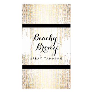 Golden Bronze Confetti Dots Spray Tanning Salon Double-Sided Standard Business Cards (Pack Of 100)
