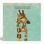 Golden Bronze Giraffes  Album Binder