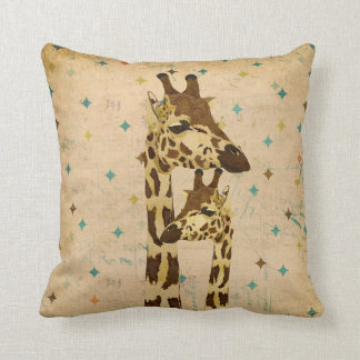 Golden Bronze Giraffes Retro  MoJo Pillows