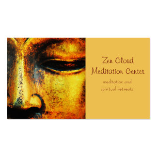Golden Bronze Statue of the Buddhas Face Double-Sided Standard Business Cards (Pack Of 100)