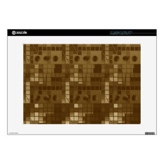 Golden Brown Abstract Laptop Decal