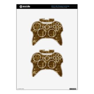 Golden Brown Abstract Xbox 360 Controller Skin
