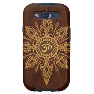 Golden Brown Aum Star Galaxy SIII Covers