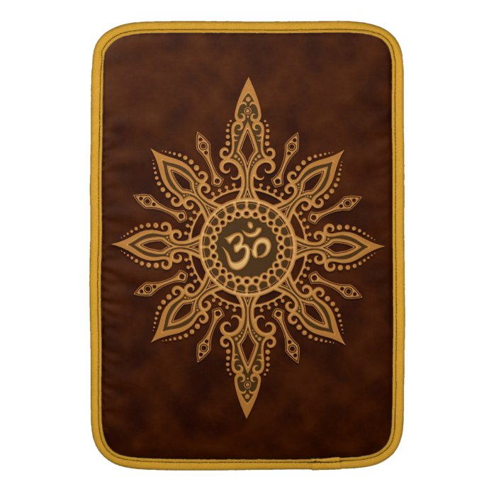 Golden Brown Aum Star MacBook Air Sleeves