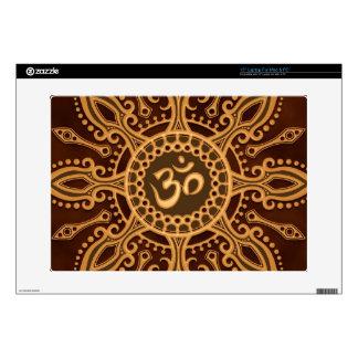 Golden Brown Aum Star Skins For Laptops