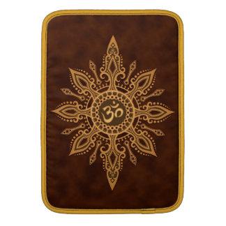 Golden Brown Aum Star Sleeves For MacBook Air