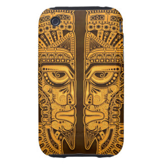 Golden Brown Aztec Twins iPhone 3 Tough Covers