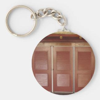 Golden Brown Building Interior Decorations Basic Round Button Keychain