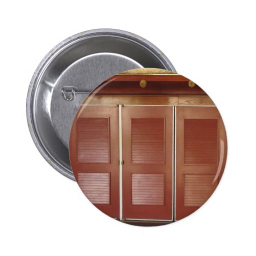 Golden Brown Building Interior Decorations Pinback Buttons