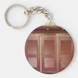 Golden Brown Building Interior Decorations Keychain