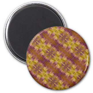Golden Brown Burgundy Abstract Photographic Print Magnet