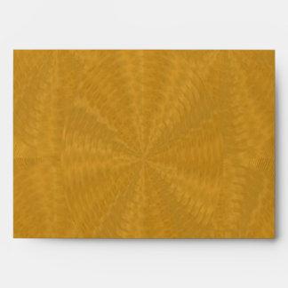 Golden Brown Floral Waves - Graphic Design Envelope
