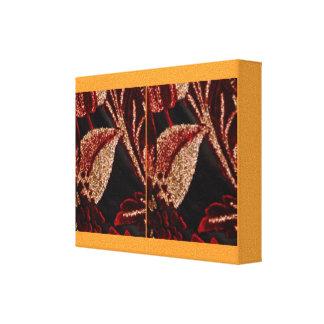Golden Brown Flower Petal Presentation Canvas Print