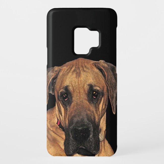 Golden Brown Great Dane Dog Galaxy S9 Case