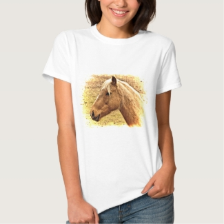 Golden Brown Horse in Sun Animal Shirt