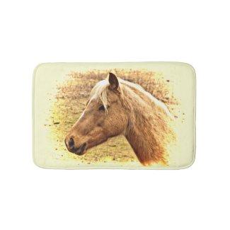Golden Brown Horse in Sun Bath Mat