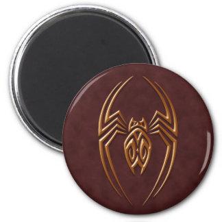 Golden Brown Iron Spider Fridge Magnet