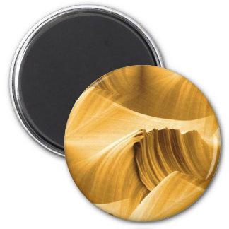 golden_brown_sandstone_scape imán redondo 5 cm