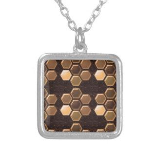 Golden Brown Sexagon : Elegant Decorations Pendant