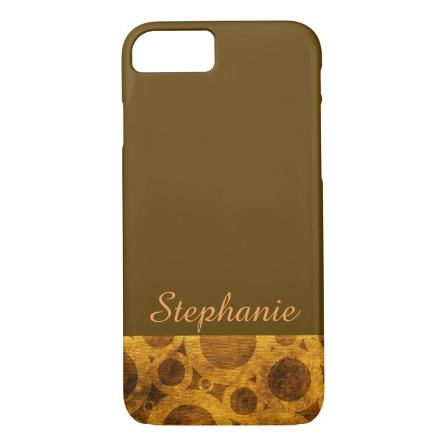 Golden Brown Steampunk Abstract iPhone 8/7 Case