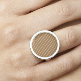 Golden Brown Stripes SPARKLE  elegant  NVN620 Ring