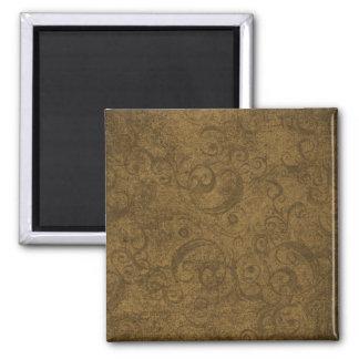 Golden Brown Swirl Pattern Refrigerator Magnets
