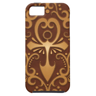 Golden Brown Tribal Ankh iPhone 5 Case