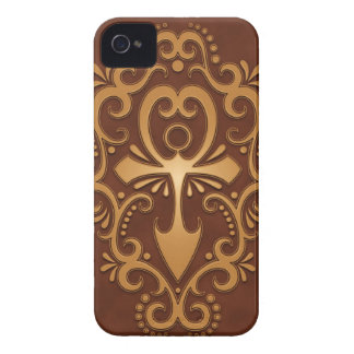 Golden Brown Tribal Ankh iPhone 4 Case-Mate Cases